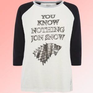 Game of Thrones You Know Nothing Jon Snow Shirt